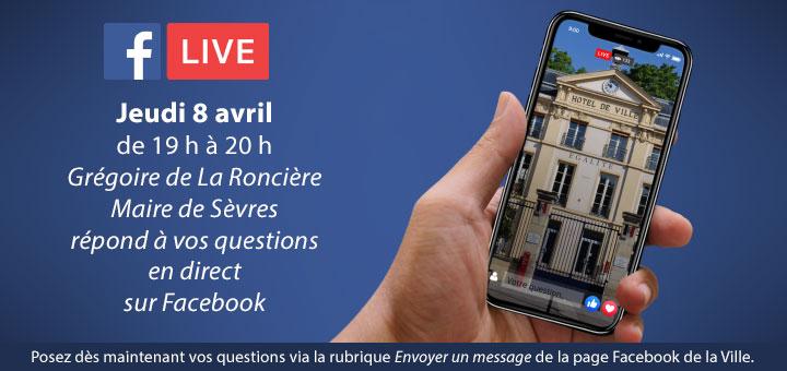 Facebook live avec le maire